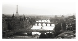 Bridges over the Seine river, Paris Prints by Michel Setboun