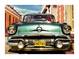 Vintage American car in Habana, Cuba Prints by  Gasoline Images