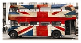 Union jack double-decker bus, London Print by  Pangea Images