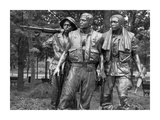 Vietnam memorial soldiers by Frederick Hart, Washington, D.C. - Black&W Poster by Carol Highsmith