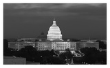 U.S. Capitol, Washington, D.C. Number 2 - B&W Print by Carol Highsmith