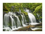 Waterfall Purakaunui Falls, New Zealand Prints by Frank Krahmer