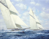 America's Cup IV Giclée-tryk af Roy Cross