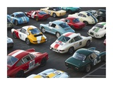 Vintage sport cars at Grand Prix, Nurburgring Prints by  Anonymous