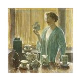 Strawberry Tea Set, 1912 Reproduction giclée Premium par Frederick Childe Hassam