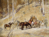 Bailed up Giclee Print by Tom Roberts