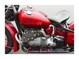 Vintage American motorbike (detail) Posters por  Gasoline Images