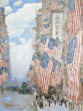 The Fourth of July, 1916 Giclée-tryk af Frederick Childe Hassam