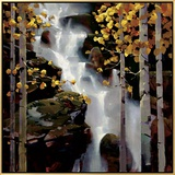 Waterfall Framed Canvas Print by Michael O'Toole