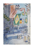 Avenue of the Allies: Brazil, Belgium, 1918 Giclée-Premiumdruck von Frederick Childe Hassam