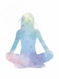 Sukhasana - Meditate Posters af Sasha Blake