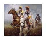 'Teeton Mill' winning at Kempton, 1998 Premium Giclee Print by Graham Isom