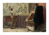 The Sculptor's Studio Premium Giclee Print by Tom Roberts
