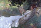 A Love Story, 1903 Giclée-tryk af Emanuel Phillips Fox