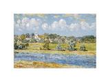 Landscape at Newfields, New Hampshire, 1909 Reproduction giclée Premium par Frederick Childe Hassam