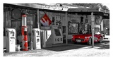 Vintage gas station on Route 66 Prints by Vadim Ratsenskiy