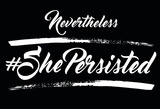 She Persisted - Noir Plakater