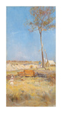 Under a Southern Sun (Timber Splitter's Camp) Giclée-Premiumdruck von Charles Conder