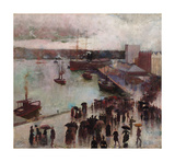 Departure of the Orient Giclée-Premiumdruck von Charles Conder