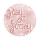 Mantra - Strong Giclée-tryk af Sasha Blake