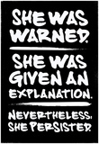 She Was Warned Scrawled Prints