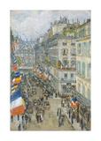 July Fourteenth, Rue Daunou, 1910 Premium Giclee Print by Frederick Childe Hassam