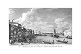 Venice: Chiara Canal, 1735 Giclée-Druck von Antonio Visentini