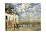 Boat In The Flood Giclee Print by Alfred Sisley