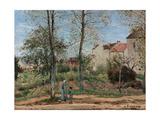 Houses, 1870 Reproduction giclée Premium par Camille Pissarro