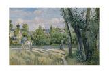 Pontoise, 1874 Reproduction procédé giclée par Camille Pissarro