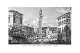 Venice: Santi Apostoli Giclée-Druck von Antonio Visentini