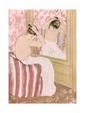 Coiffure, 1891 Premium Giclee Print by Mary Cassatt