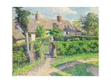 Peasants' House Reproduction giclée Premium par Camille Pissarro