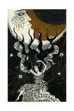 Moon Song, 2016 Giclee Print by Dariya Hlazatova