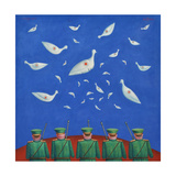 Dove Shooters II, 1999 Giclee Print by Tamas Galambos