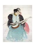 Banjo Lesson, 1893 Giclee Print by Mary Cassatt
