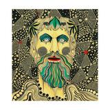 Emperor's Head, 2014 Giclee Print by Dariya Hlazatova