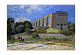 Aqueduct At Marly Giclee Print by Alfred Sisley