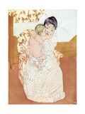 Caress, 1891 Giclee Print by Mary Cassatt