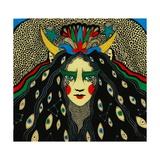 Many-Eyed Witch, 2013 Giclee Print by Dariya Hlazatova