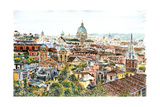 Rome, from the Borghese Gardens Giclee Print by Anthony Butera