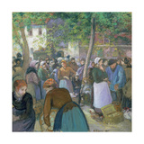 The Market, 1885 Giclee Print by Camille Pissarro