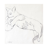 Cuddly Cat, 2000 Giclee Print by Joan Thewsey