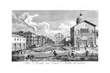 Venice: Church, 1735 Giclée-Druck von Antonio Visentini