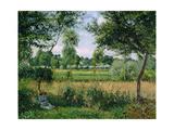 Soleil du matin Reproduction giclée Premium par Camille Pissarro
