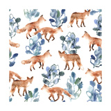 Foxes, 2016 Giclee Print by Varpu Kronholm