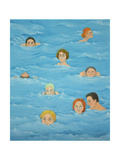 In the Pool Giclee Print by Magdolna Ban