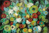 Fiesta Floral Poster by Silvia Vassileva