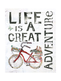 Life is a Great Adventure Premium Giclee Print by Kellie Day
