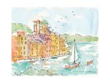Portofino II Premium Giclee Print by Anne Tavoletti